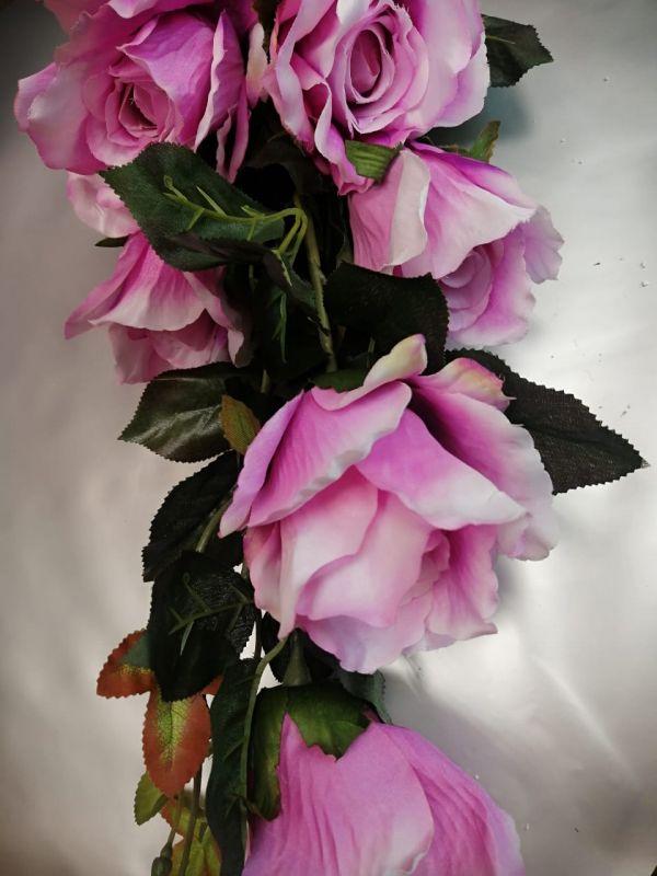 Ветка розы, высота 90см, 7 больших бутонов, цвета разные